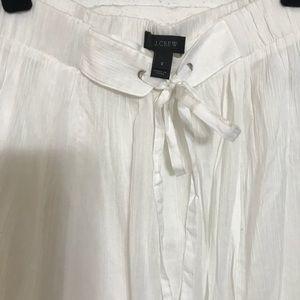 J Crew- White linen maxi skirt- never been worn